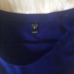 Other - Juniors off shoulder royal blue high low dress